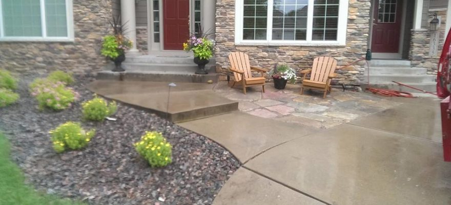landscape and patio install